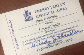 PCUSA Teaching Elder Member Cards