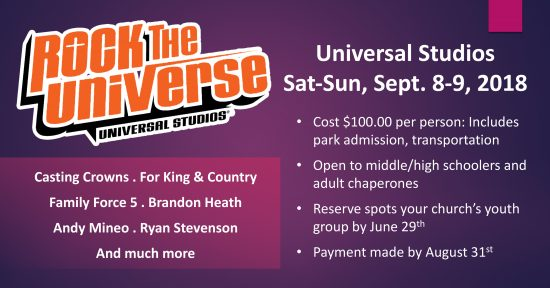 Reserve Transportation to Rock the Universe by June 29th